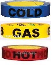 """""""freddo"""" &"""" HOT"""" & """"GAS"""", tubo/acqua marcatura ID identifitcation nastro di sicurezza"""