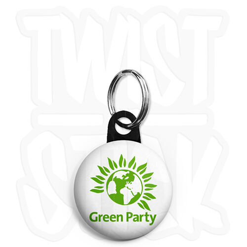 Green Party Logo Zip Pull Option 25mm Political Election Keyring Button Badge