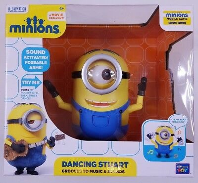 Despicable Me Minions Dancing Stuart Grooves to Music and Sounds New