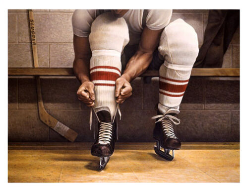 LACING UP by Ken Danby Classic Hockey Art Premium GALLERY POSTER PRINT