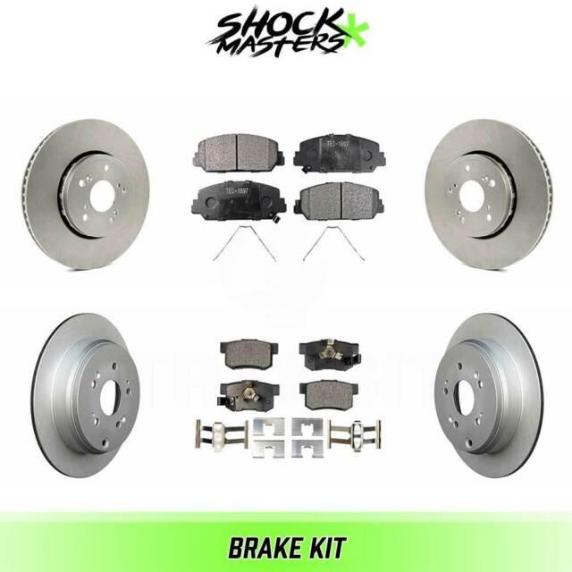 Front & Rear Ceramic Brake Pad & Coated Rotor Kit For 2013