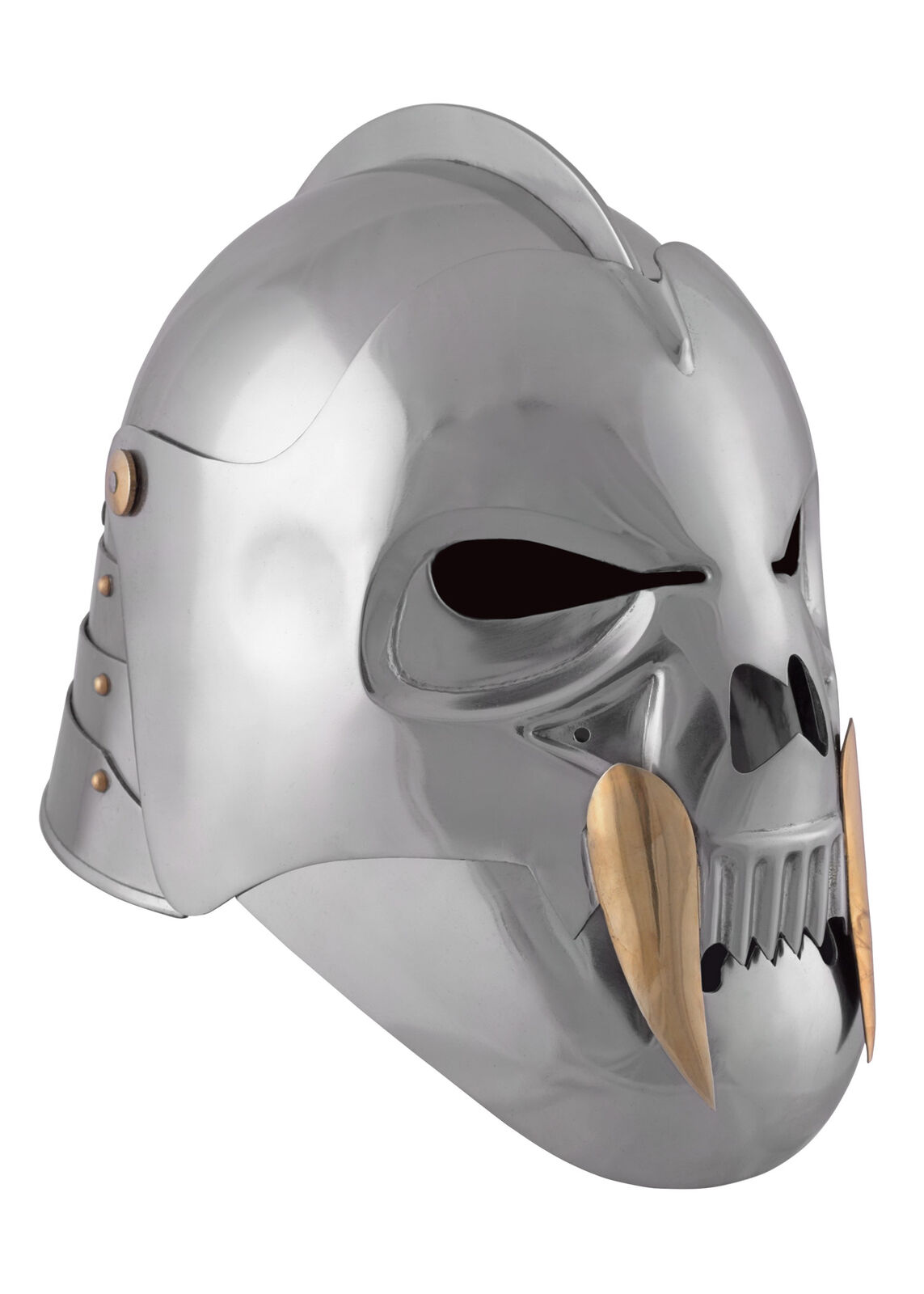 The Skull Skull Skull Celeta, Orc Helmet from steel - LARP Fantasy Bascinet 9f04ed