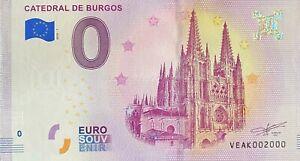 BILLET-0-EURO-CATEDRAL-DE-BURGOS-ESPAGNE-2018-NUMERO-2000