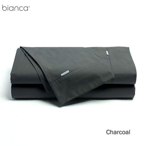300TC Heston Cotton Percale Sheet Set by Bianca ALL Sizes plus Super King