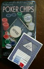 Paris Casino Las Vegas Card Deck + Professional Poker 100 Chip set