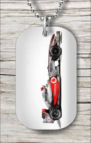 """RACING SPEED CAR FORMULA ONE DOG TAG NECKLACE 30/"""" FREE CHAIN ldr5Z"""