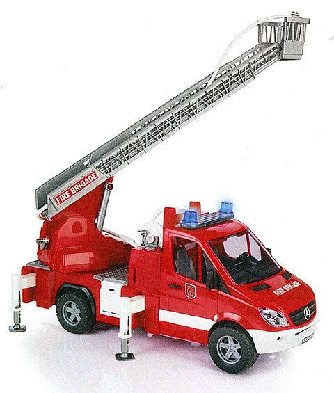 MB Sprinter Fire Engine Ladder Pompe à eau Lumière Module Sonore Bruder 02532