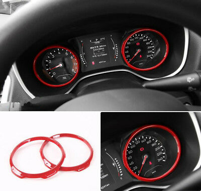 Red Dashboard Decorative Frame Cover 2pcs For Jeep Compass 2017 2018 2019