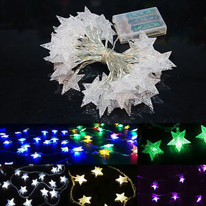 battery operated 10 20 led bright twinkle star string fairy light wedding decor. Black Bedroom Furniture Sets. Home Design Ideas