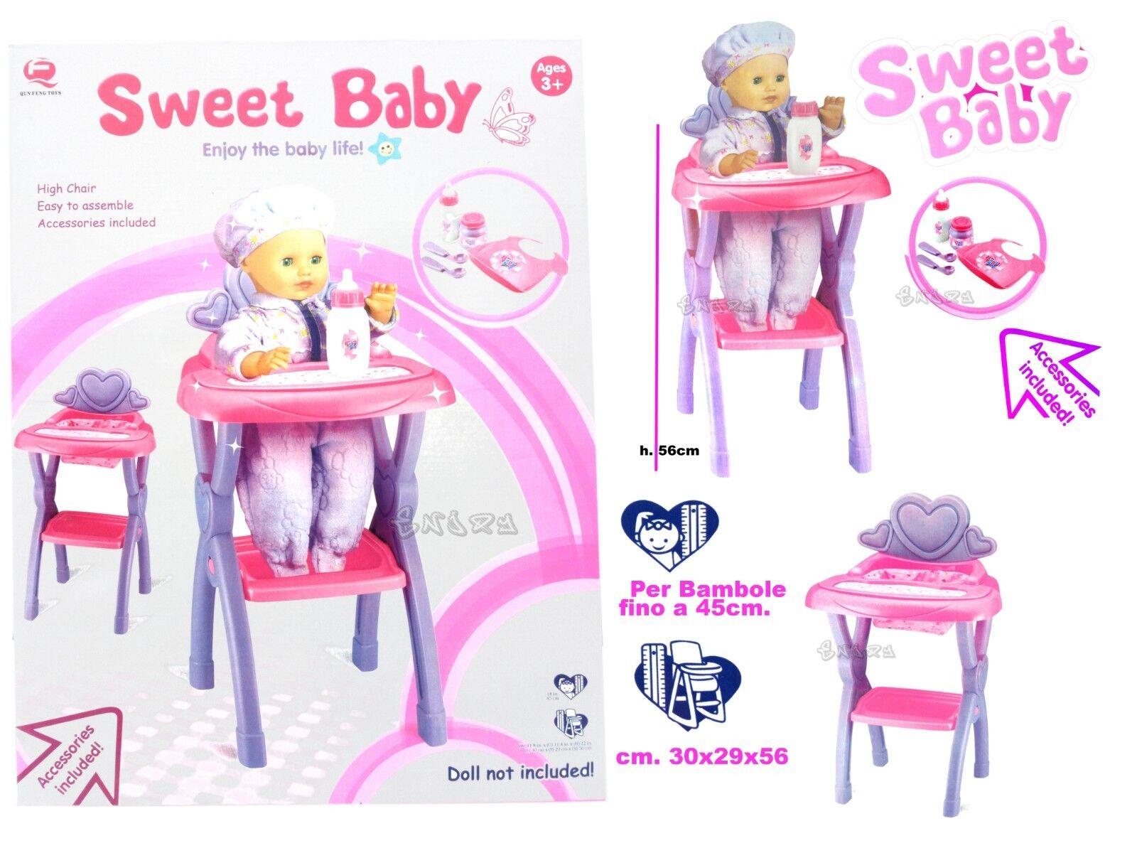 Hochstuhl für Puppen Essen-kit Baby-Puppen groß Spiel kind 2185583