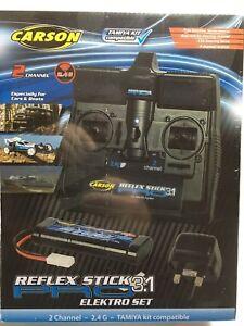 Carson-R-C-Tamiya-Compatible-Reflex-Stick-Pro-3-1-Electro-Set-2-4GHz-T48-Post
