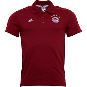 Orginal-Adidas-Herren-FC-Bayern-Muenchen-Polohemd-Polo-Shirt-FCB-Rot