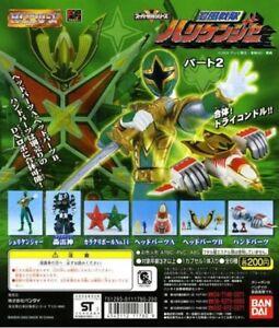 Bandai Power Rangers Ninja Storm Sentai Hurricaneger Gashapon Figure Set of 6