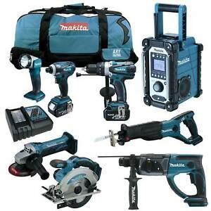 MAKITA-DHR202-RMJ-Kombi-Bohrhammer-18V-Werkzeug-Set-inkl-DMR102-Z-ZJ