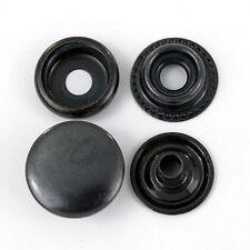 90 Ring-Feder Druckknöpfe TYPE 61 / 15mm schwarz, für Textil, Leder, Jacken
