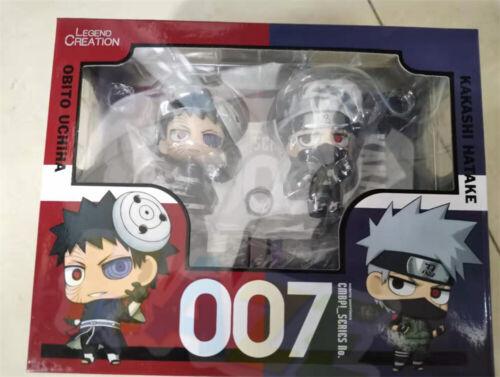 Figure Model 8cm 2pcs//set Anime Naruto Hatake Kakashi Uchiha Lohuo Q Ver
