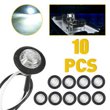 10pcs White Led Car Truck Trailer Rv Lights Lamp Side Clearance Marker Lights