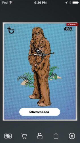 Topps Star Wars Digital Card Trader Blue Classic Art Chewbacca Series 2 Insert