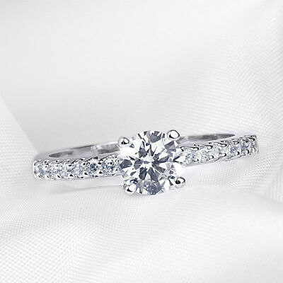 0.75 Ct Promise Ring Engagement Anniversary Round Cut White Gold Plated Size 5-9 To Enjoy High Reputation At Home And Abroad Jewelry & Watches Jewelry & Watches