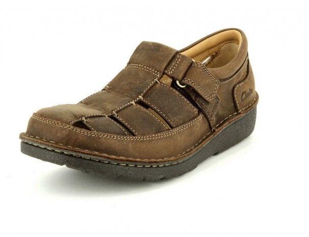 Clarks Mens  NATURA APERTA, Tabacco Summer sandal,   SOFT SOLE  UK 7.5   8 G  basso prezzo del 40%