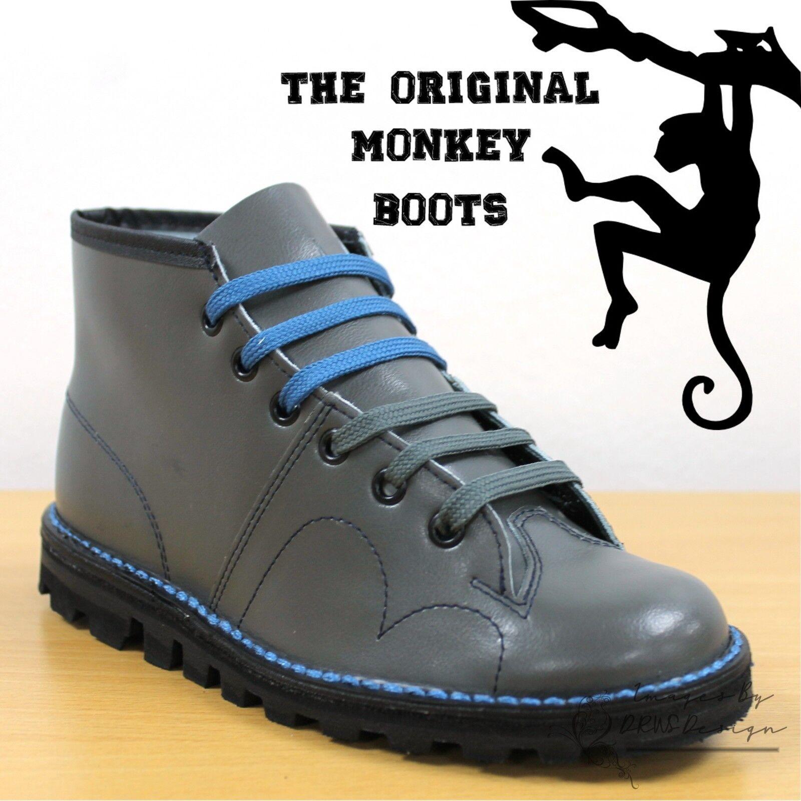 Grafters The Original Original Original Monkey Boots Men's Women's & Kids Retro 60's Grey shoes 67bbdd
