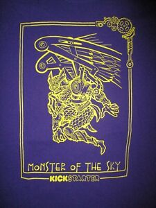 MONSTERS-IN-SKY-T-SHIRT-Sam-Koji-Hale-Film-Puppet-Steampunk-Sci-Fi-YamaSong-MED