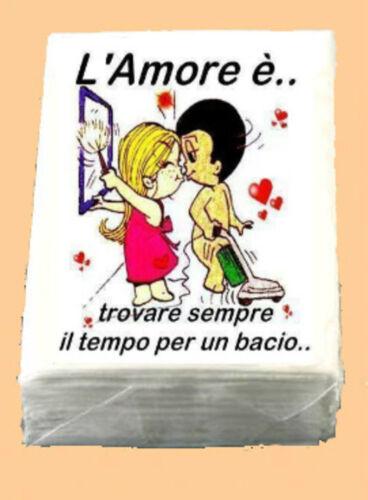 OMAGGIO 50X10 FAZZOLETTI ECONOMICI MATRIMONIO  lacrime di gioia LOVE IS 14