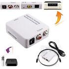Digital zu Analog Audio Konverter Wandler Adapter Toslink Koaxial RCA L/R Cinch