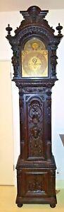 LARGE-RARE-ELLIOTT-RJ-HORNER-GRANDFATHER-TALL-CASE-CLOCK-C1890-1910