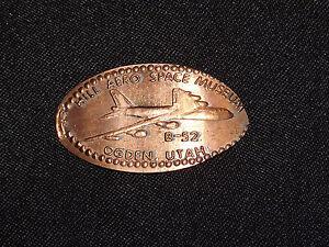VINTAGE-ELONGATED-COINS-SOUVENIR-PENNY-HILL-AERO-SPACE-MUSEUM-OGDEN-UT-B-52