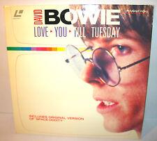DAVID BOWIE - Love you till Tuesday Laser Disc POLYGRAM VIDEO (WR7)