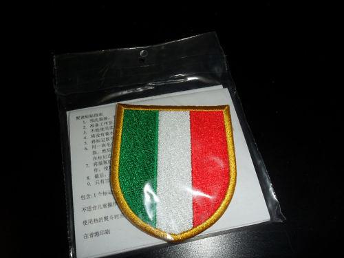 Patch Flicken Scudetto Tricolor Italien Italy Badge Vera