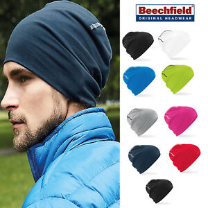 d6f133dfa21 Image is loading Beechfield-Hemsedal-Cotton-Beanie-Bright-pull-on-stretch-
