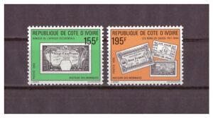 Cote-D-039-Ivoire-histoire-de-Geldes-Minr-1010-1011-1990