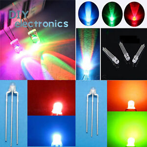 Round-Straw-Hat-LED-3-10mm-RGB-Dual-Clear-Fast-Slow-Flash-Diodes-US