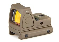 Mini Holograhic Tactical RMR Style Red Dot Sight w/Picatinny Glock Mount - TAN