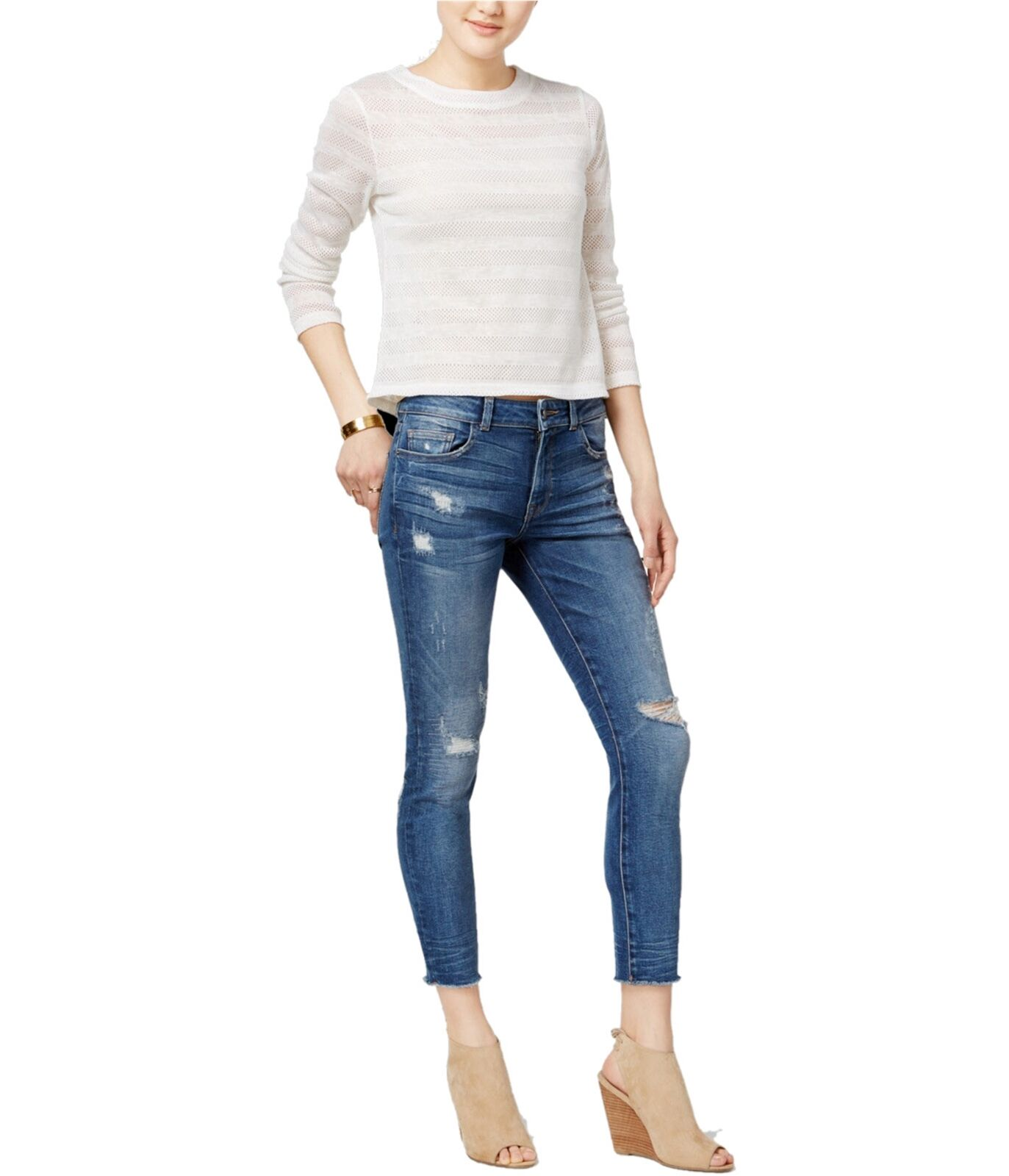 DL1961 Womens Florence Ripped Skinny Fit Jeans