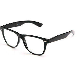 1e9d1295492 Image is loading Fashion-Retro-Unisex-Mens-Womens-Clear-Lens-Nerd-