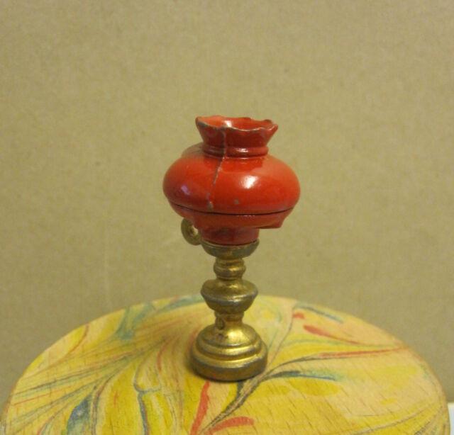 Bodo Hennig rote Gaslaterne ohne Glas für Puppenhaus Puppenstube 1:10