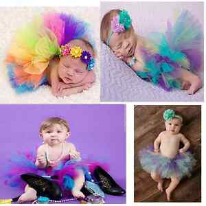 Image Is Loading Baby Girl Newborn Toddler Fluffy Tutu Skirt Headband