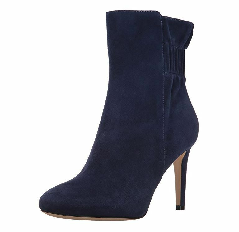 Nine West Women's Herenow Ankle Bootie, Navy, 5.5 M US