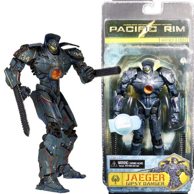 "NECA Pacific Rim Gipsy Danger Battle Damage Jaeger 7/"" Action Figure Robot Toy"