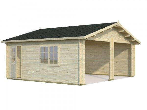 Doppel Holzgarage Roger 28,4 m² Iso 5,95 x 5,30 m Garage Palmako mit Optionen
