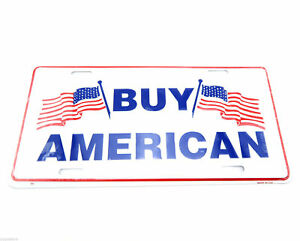 Buy American USA Flags Aluminum Metal License Plate Sign ...
