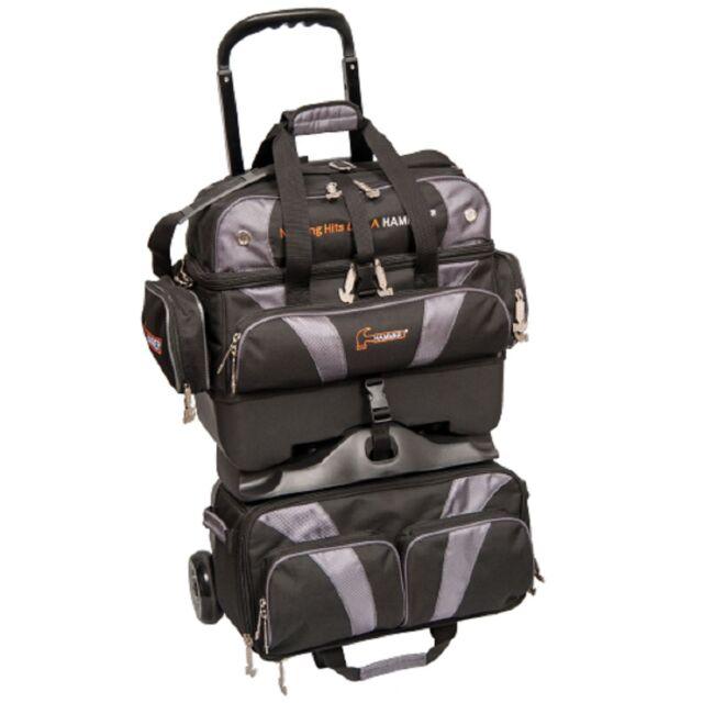 Hammer 4 Ball Roller Premium Bowling Bag Color Black Carbon New Design