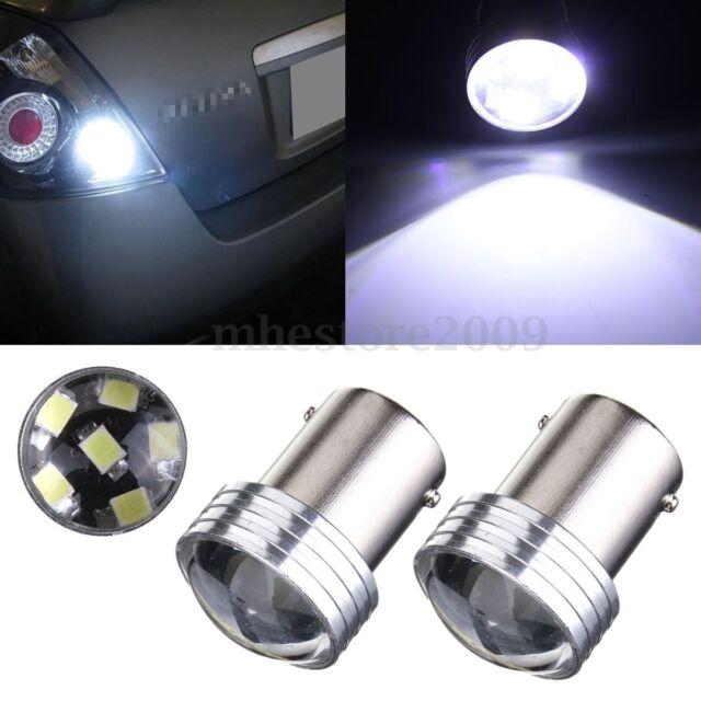 2x White 1156 BA15S 6 SMD 2835 LED Turn Signal Rear Light Car Bulb Lamp Bulb 12V