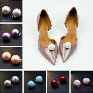 1-Pair-Shoe-Clips-Imitation-Pearls-Detachable-Buckle-Heels-Charm-Accessories-New