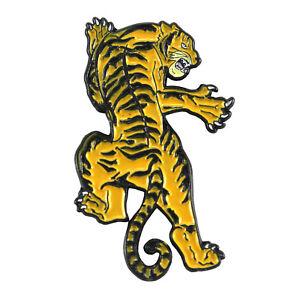 Captivating Image Is Loading ORANGE Climbing Tiger Enamel Pin Tattoo Walking Dead