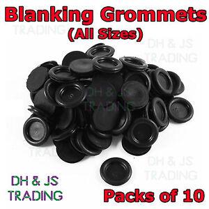 10x Blanking Grommets Rubber Grommet Closed Gromet Blind