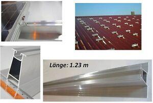 Aluschiene 60 Mm Für 4 – 6 Halter Solarmodule. 1.23m Diligent Pv Montage Trapezblech